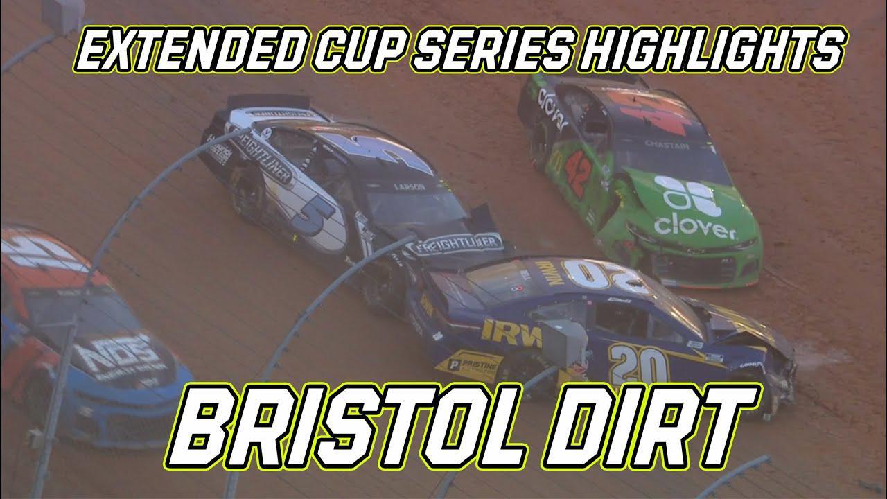 画像: Big wrecks and a new winner: Bristol Dirt Race Extended Highlights | NASCAR Cup Series youtu.be