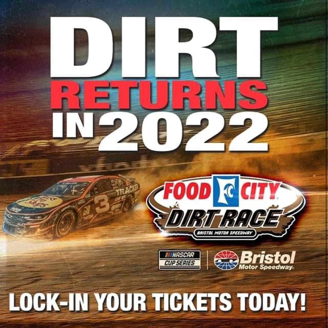 画像: NASCARブリストルのダート戦、早速?いきなり?2022年もやりますと告知。既定路線だったか・・・。