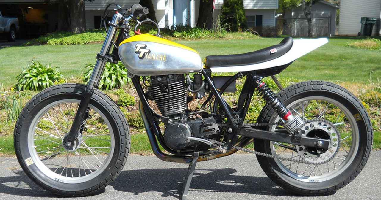"""画像: [Flat Track Friday!!] 一年経って、また一念?ヤマハ・SR400系をダートトラッカー化するための""""本場の古文書""""を入手しました! - LAWRENCE - Motorcycle x Cars + α = Your Life."""