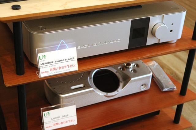 画像: 試聴システムのデジタルコンテンツ再生機器としてMERGINGの「NADAC PLAYER」やCHODの「DAVE」がセットされていた