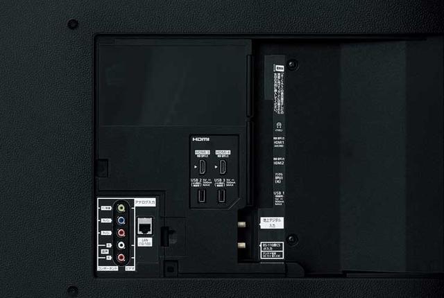 画像: 端子類はすべて背面に配置されている。HDMI端子は4系統装備し、すべてで4K/HDR入力、HDCP2.2に対応している。ARC対応はHDMI端子1のみだ。そのほか、ビデオ入力とコンポーネント入力の共有端子を1系統配備している