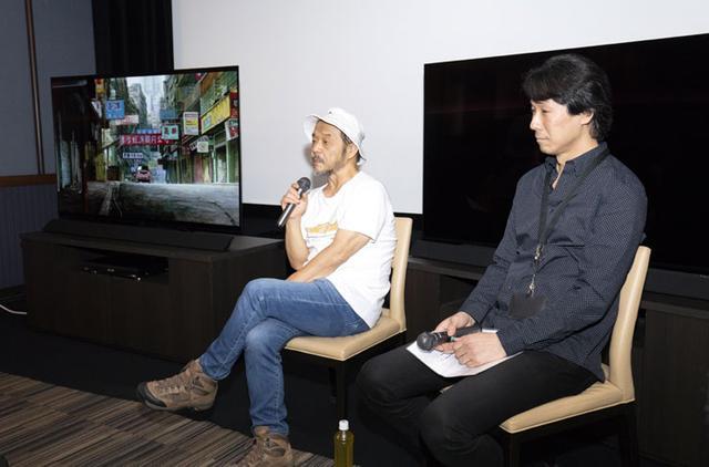 画像: 特別上映会で、4Kリマスターされた映像の感想を語る押井監督(写真左)。右は4Kリマスター作業を担当した、キュー・テックの今塚誠氏