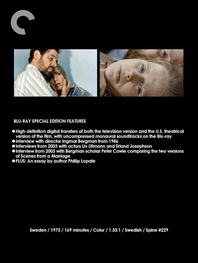 画像2: クライテリオンからのお知らせ《1》 イングマール・ベルイマン監督作『ある結婚の風景』 (BLU-RAY, DVD-R1)(SCENES FROM A MARRIAGE:THE CRITERION COLLECTION )
