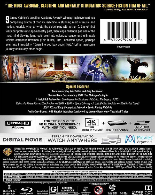 画像2: 映画史に燦然と輝く名作SF 『2001年宇宙の旅』 (4K UHD BLU-RAY / NEWLY REMASTERED)(2001:A SPACE ODYSSEY)