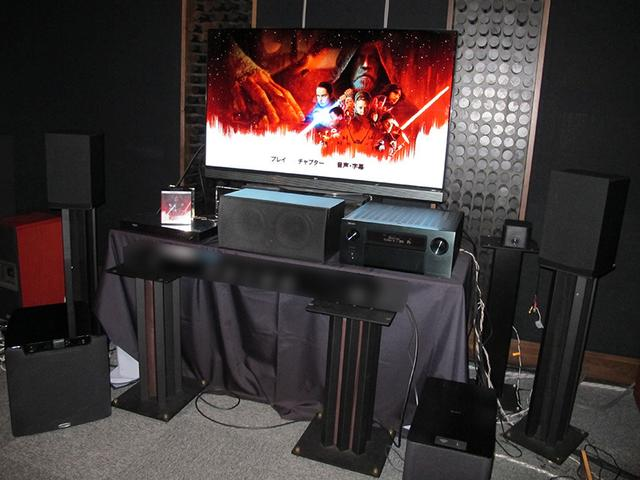 画像: ドルビージャパンの視聴室に準備された、ドルビービジョン&ドルビーアトモス対応システム