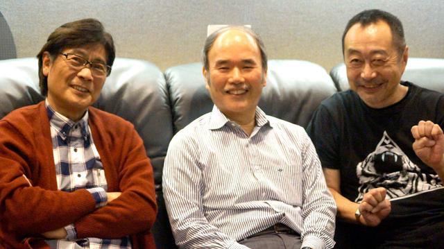 画像: 3人揃って。左からフルートの中川昌三氏、バンドマスターの角田健一氏、ヴァイオリンの齋藤ネコ氏の順