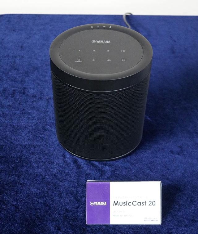 画像: MusicCast20。AIスピーカー然としたデザインを採用。W150×H186×D130mm