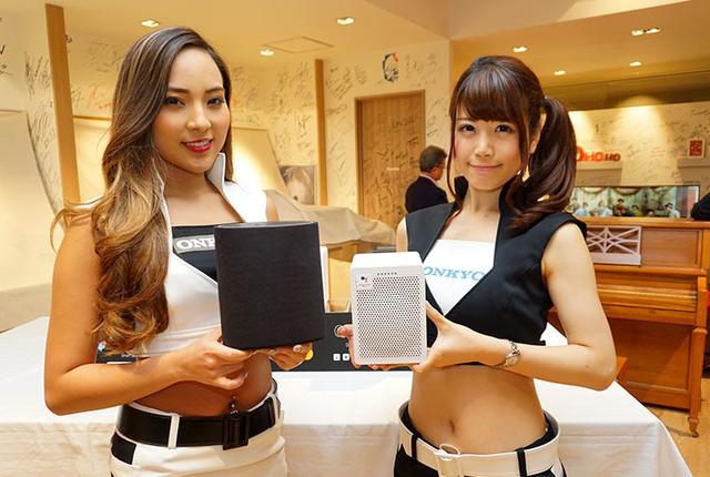 画像: オンキヨーがスマートスピーカー「G3」(Googleアシスタント対応)&「P3」(Amazon Alexa対応)発表会を開催