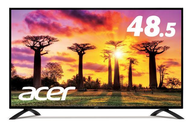 画像: acer、8万円の4Kモニター「EB490QKbmiiipx」8月25日より発売。HDCP2.2準拠でUHD Blu-rayも観られる