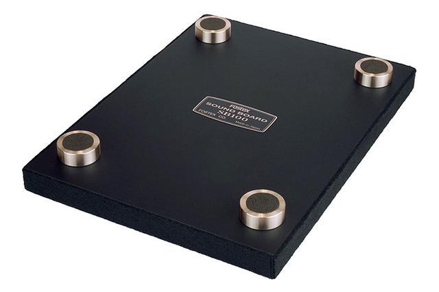 画像: FOSTEX、オーディオボード「SB100」をペア28,000円で発売。四隅のフットでコンパクトスピーカーの音響性能を引き出す