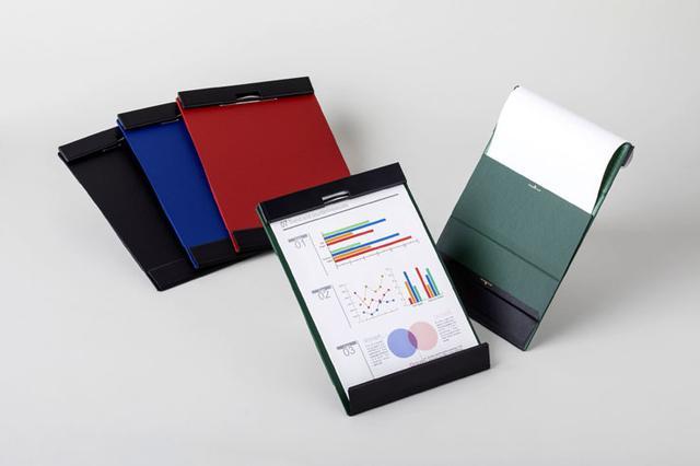 画像: キングジム、マグネットで用紙を固定できるクリップボード「マグフラップ」を5/18発売。スチール棚にも貼り付けられる