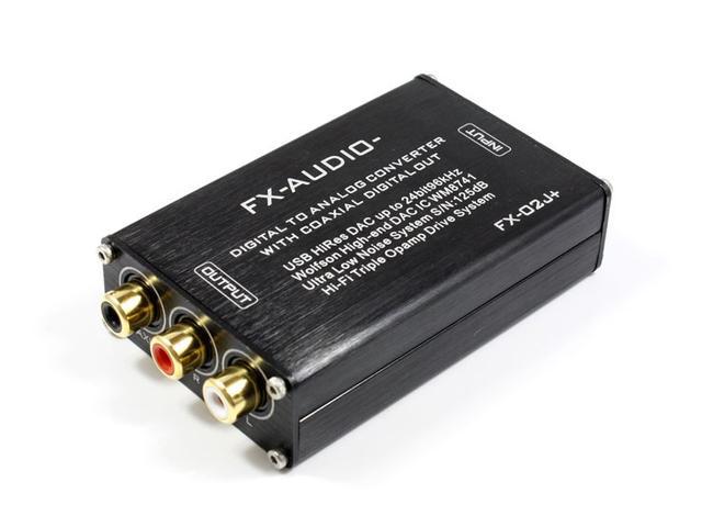 画像: FX-AUDIO-、パスパワー駆動のUSB DAC「FX-02J+」、10/11発売。高性能DAC「WM8741」を搭載