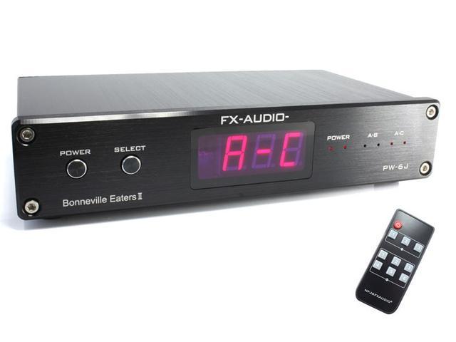 画像: FX-AUDIO、アンプ/スピーカー用のセレクター「PW-6J」発売。電子制御で簡単操作。価格は税込み5980円!