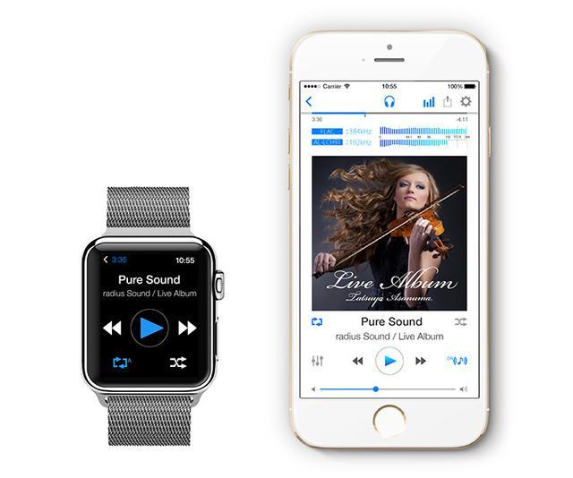 画像: ラディウスのハイレゾ音源再生アプリ「NePLAYER」「NePLAYER Lite」がApple Watchとの連携に対応