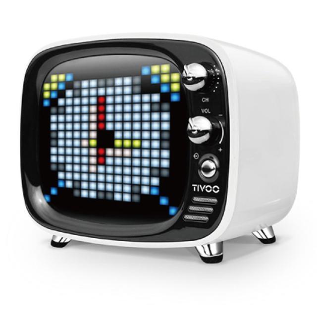 画像: Divoom、レトロデザインのBluetoothスピーカー「TIVOO」、6/8に発売。専用アプリでイラスト&アニメを作って表示できる