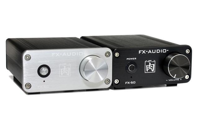 画像: FX-AUDIO、50W×2の出力を持ったパワーアンプ「FX-50」を発売。価格は4980円。カラーリングはブラック&シルバーを用意