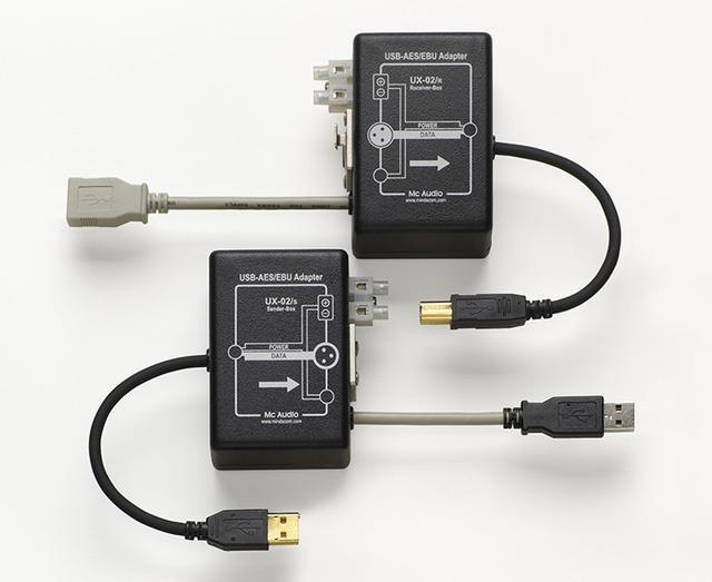 画像: Mc Audio「UX-02」USBの音声信号をノイズに強いAES/EBUで伝送するアダプター