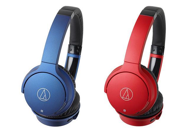 画像: オーディオテクニカ、1万円のBluetoothヘッドホン&イヤホンに新色、ブルーとレッドを追加