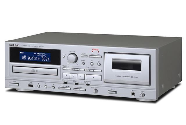 画像: ティアック「AD-850」はCD内蔵カセットデッキ。USBメモリーの録音/再生にも対応