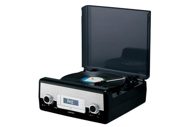 画像: レコード、CD、FM、USBが1台で再生可能な一体型機コイズミ「SAD-9801」誕生