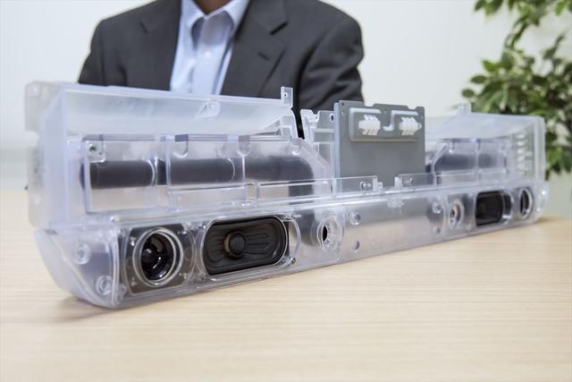 画像: 最終的にできあがった32型「 極音 」のスピーカーボックス部のスケルトンサンプル