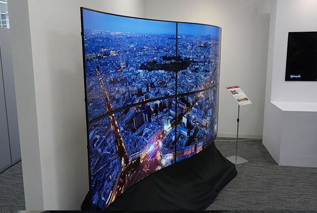 画像: LGが有機ELデジタルサイネージの新製品説明会を開催。有機ELの薄く、軽く、曲げられる強みを活用