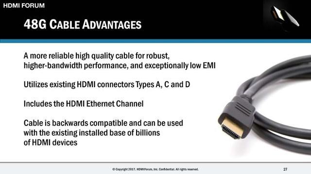 画像: 【CES 2017速報7】「HDMI 2.1」の続報を追記。8K/60pまでロスレス伝送可能に