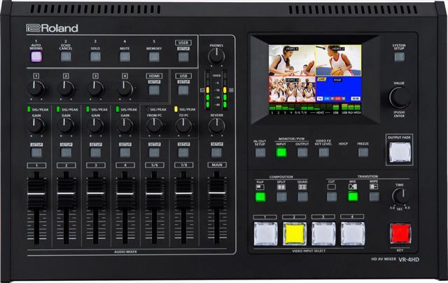 画像: PROSOUNDニュース音声と映像操作の自動化も可能Roland AVミキサーVR-4HD