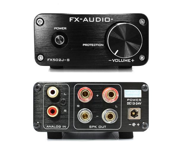 画像: 端子は、アナログ音声入力1系統(RCA)、スピーカー出力1系統。スピーカー出力はバナナプラグにも対応する金メッキ品が採用されている