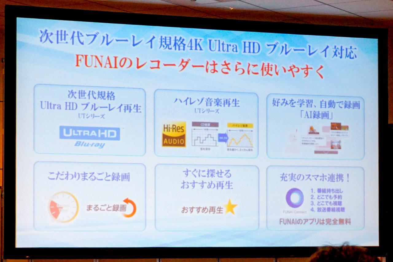 Images : 12番目の画像 - FUNAI発表会の製品紹介スライド - Stereo Sound ONLINE