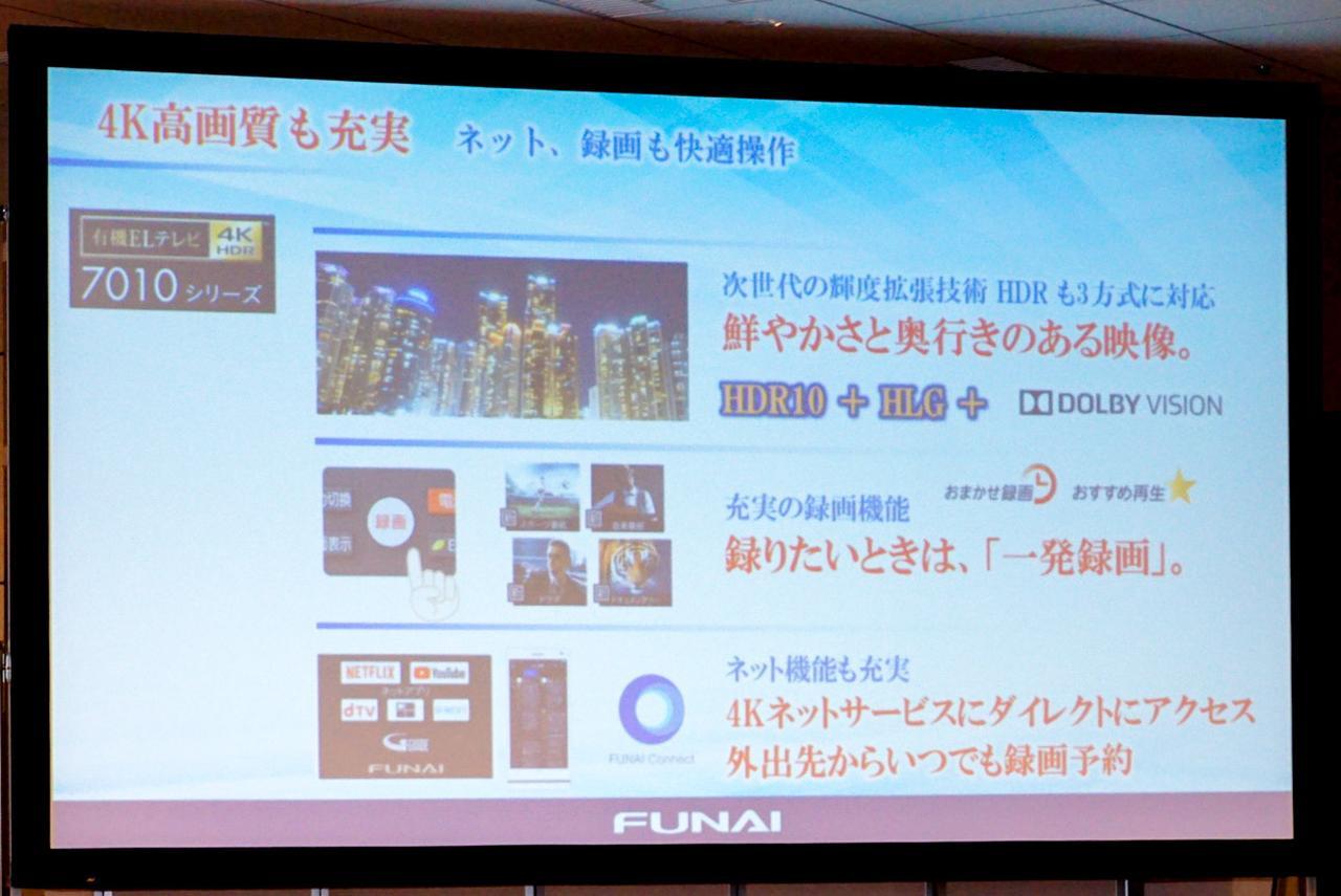 Images : 5番目の画像 - FUNAI発表会の製品紹介スライド - Stereo Sound ONLINE