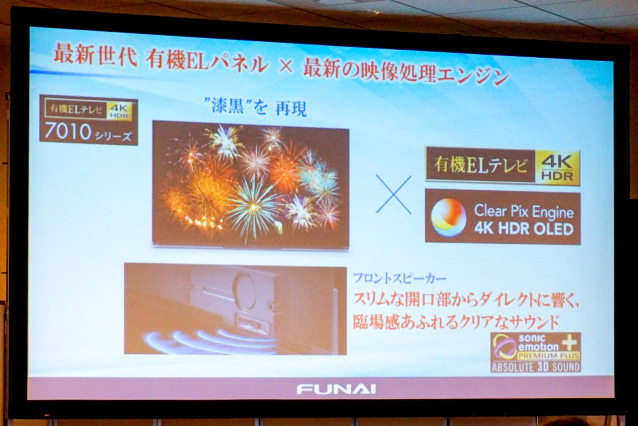 Images : 4番目の画像 - FUNAI発表会の製品紹介スライド - Stereo Sound ONLINE