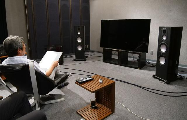 画像: 山本さんには、ソニーKJ-65A1と組み合わせて、4.1.4システムで様々なソースを再生してもらった