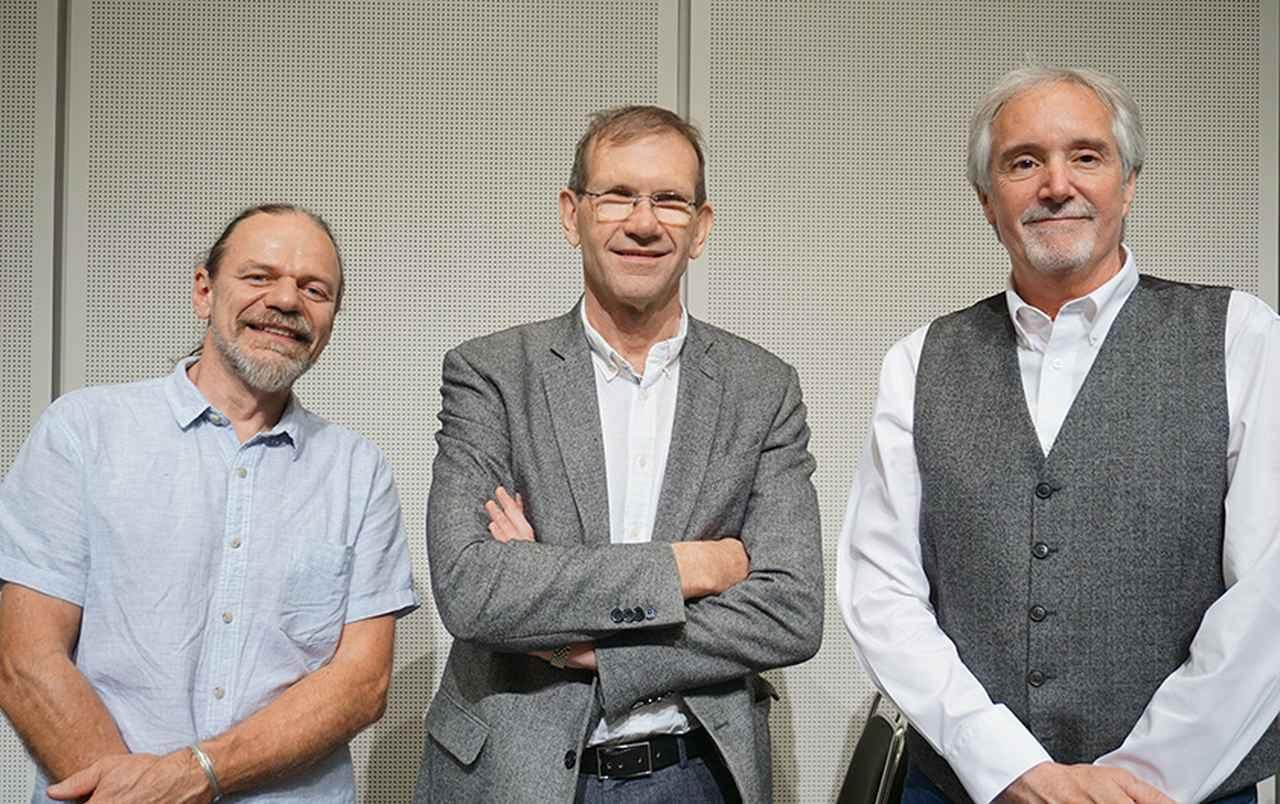 画像: 左からローレンス・ディッキー氏、フィリップ・グーテンダーク氏、ジェローム・ハンナ氏