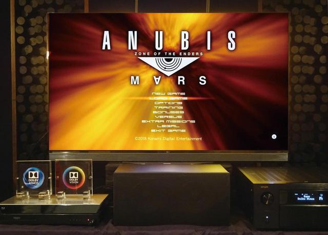 画像: LGの4K有機ELテレビを核にしたシステムでも体験できた。AVアンプにはデノンの「AVC-X8500H」を使い、トップに6本のスピーカーを設置した7.1.6のシステムだ