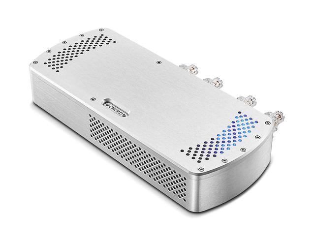 画像: CHORDの「Blu MkII」、「DAVE」と組み合せを想定したステレオパワーアンプ「Etude」。新しい手法の導入で、トランジェント性能を大幅に向上。DAVEの持つハイパフォーマンスをそのままスピーカー駆動に伝送できる能力を持たせたという