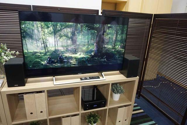 画像: 「テレビ入力」のデモ。リビングに設置してサウンドバーのように、テレビ音声のアップグレードにも使える