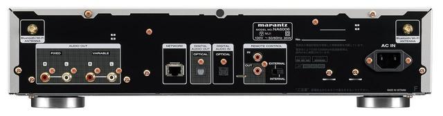 画像: 背面パネル。アナログ出力(RCA)は、ボリュウム可変と固定の2系統を搭載する