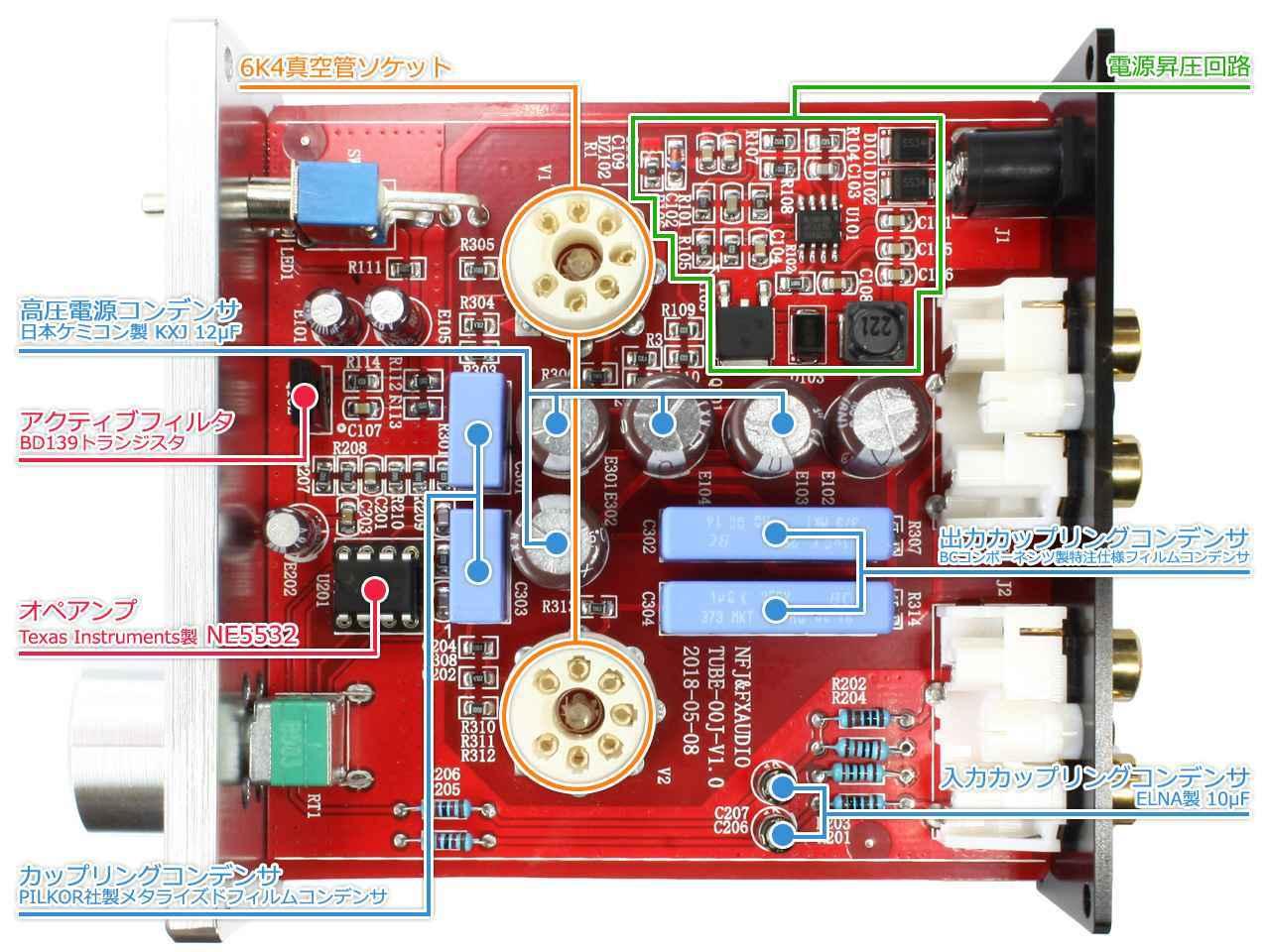 画像: 内部回路。高品質な部品が多数使われている