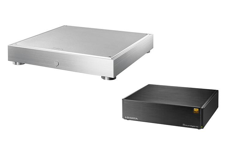 画像: コントロールアプリ「fidata Music App」は、fidataブランドのネットワークオーディオサーバー(左)とアイ・オー・データ機器の「Soundgenic」シリーズ(右)の両方に対応する