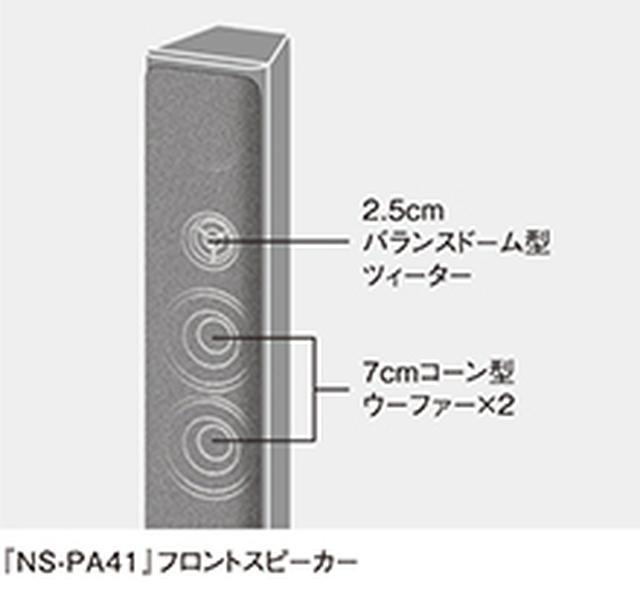 画像1: 違いはフロントスピーカー。NS-PA41がトールボーイ、NS-P41はブックシェルフ