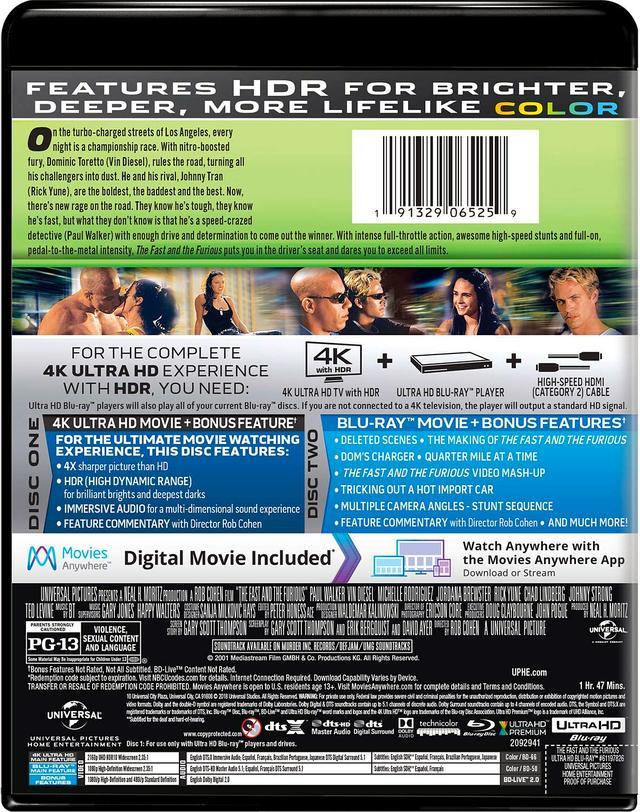 画像4: メガヒット・シリーズ初期3作品がUHD化 『ワイルド・スピード』『ワイルド・スピードX2』『ワイルド・スピードX3 TOKYO DRIFT』【海外盤Blu-ray発売情報】