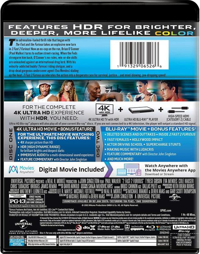 画像5: メガヒット・シリーズ初期3作品がUHD化 『ワイルド・スピード』『ワイルド・スピードX2』『ワイルド・スピードX3 TOKYO DRIFT』【海外盤Blu-ray発売情報】