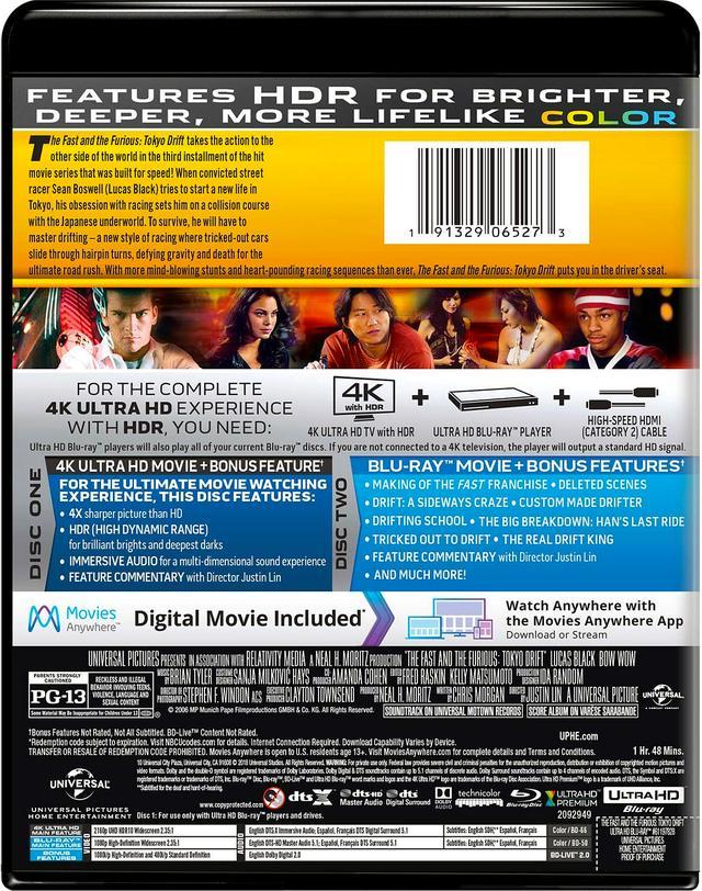 画像6: メガヒット・シリーズ初期3作品がUHD化 『ワイルド・スピード』『ワイルド・スピードX2』『ワイルド・スピードX3 TOKYO DRIFT』【海外盤Blu-ray発売情報】