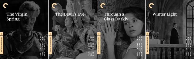 画像: 処女の泉  (60), 悪魔の眼  (60), 鏡の中にある如く (61), 冬の光 (62)