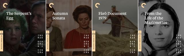 画像: 蛇の卵 (77), 秋のソナタ (78), フォール島の記録1979 (79/ドキュメンタリー), 夢の中の人生 (80/TVM)
