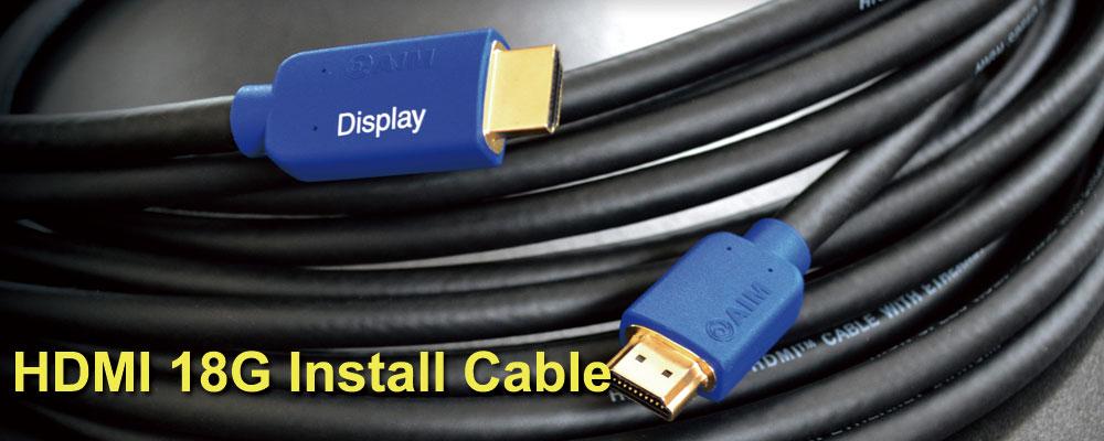 画像: HDMI 18Gインストールケーブル [IM4K] | AIM電子 - オーディオ & ヴィジュアル製品