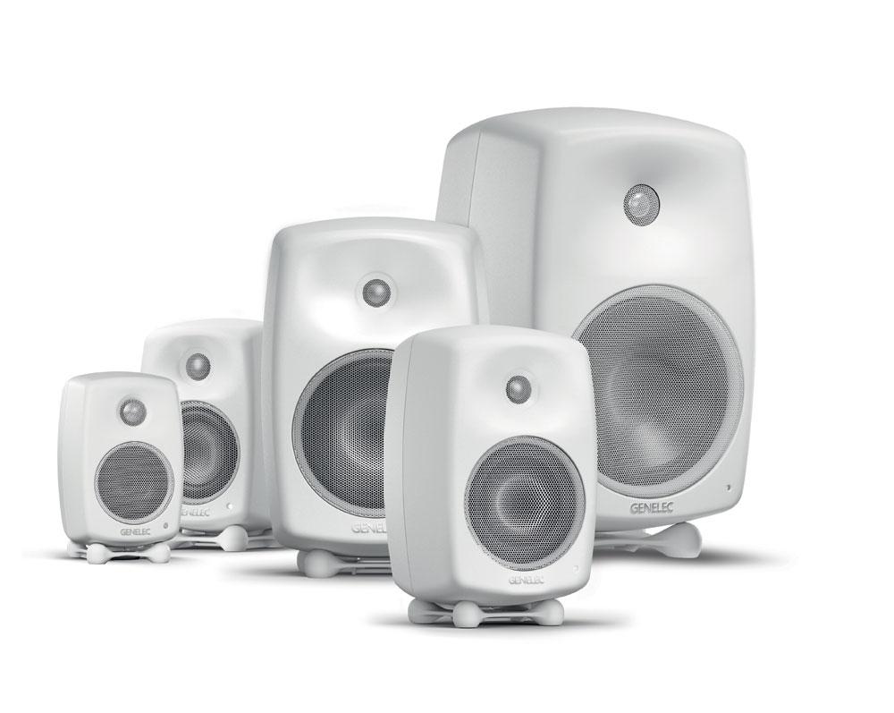 画像: 家庭用のアクティブスピーカー「Gシリーズ」。G-OneからG-Fiveまでの5機種をラインナップする。カラーリングは写真のホワイトのほか、ブラックも揃えている