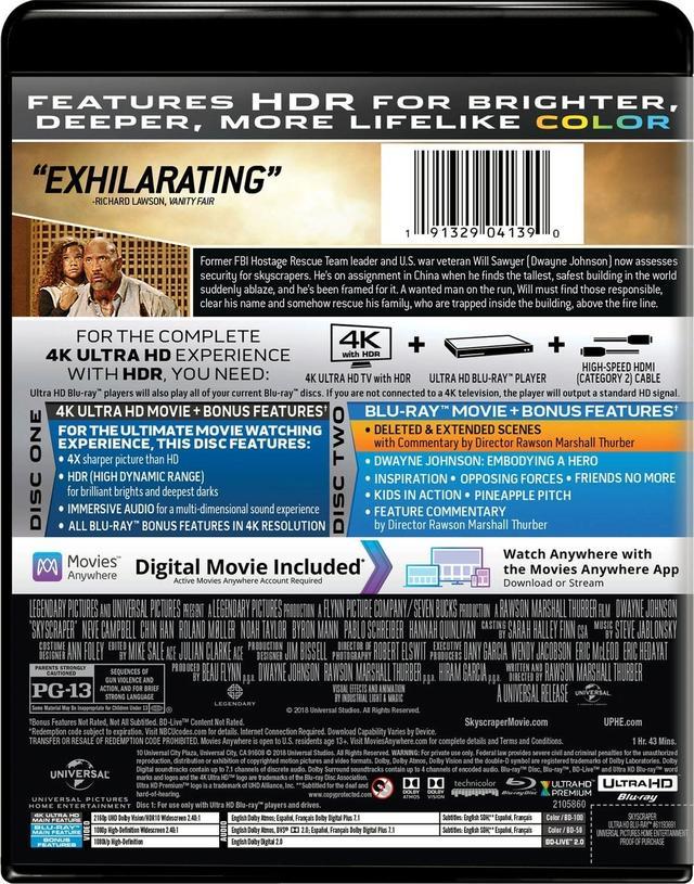画像2: ドウェイン・ジョンソン主演超弩級アクション『スカイスクレイパー』【海外盤Blu-ray発売情報】