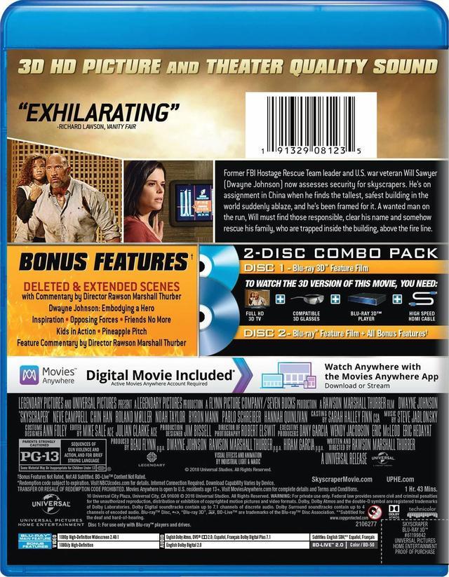 画像4: ドウェイン・ジョンソン主演超弩級アクション『スカイスクレイパー』【海外盤Blu-ray発売情報】